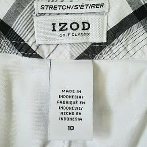 Izod Shorts - Izod Stretch Plaid Golf Skort